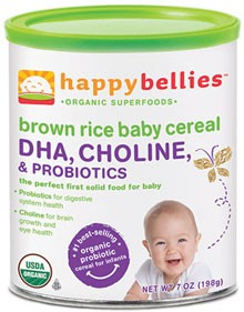 Happybellies, Brown Rice Baby Cereal, 7 oz (198 g)
